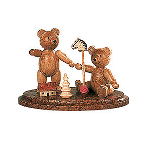 Small Figures & Ornaments Animals Bears Two Bears Playing - 4 cm / 2 inch
