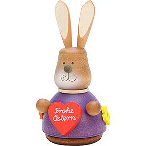 Kleine Figuren & Miniaturen Tiere Hasen Wackelhase mit Herz - 9,8 cm