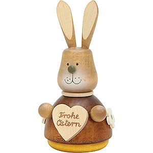 Kleine Figuren & Miniaturen Tiere Hasen Wackelhase mit Herz natur - 9,8 cm