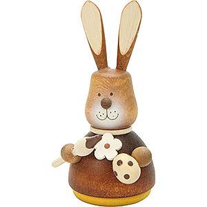Kleine Figuren & Miniaturen Tiere Hasen Wackelhase mit Pinsel natur - 9,8 cm