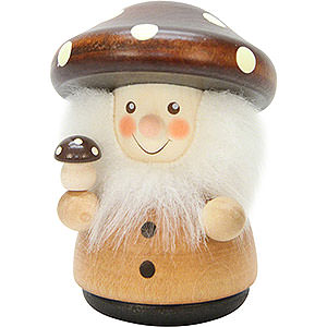 Kleine Figuren & Miniaturen Wippel-/Wackelmännchen Wackelmännchen Pilzmännle natur - 7,8 cm