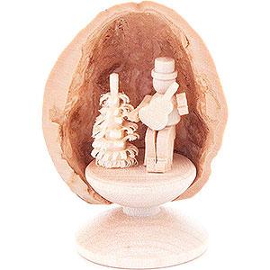 Kleine Figuren & Miniaturen Walnussschalen Walnussschale Musiker mit Gitarre - 5 cm