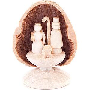 Kleine Figuren & Miniaturen Walnussschalen Walnussschale mit Christi Geburt - 5 cm