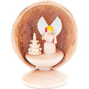 Kleine Figuren & Miniaturen Walnussschalen Walnussschale mit Engel - 5 cm