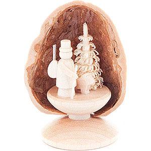 Kleine Figuren & Miniaturen Walnussschalen Walnussschale mit Förster - 5 cm