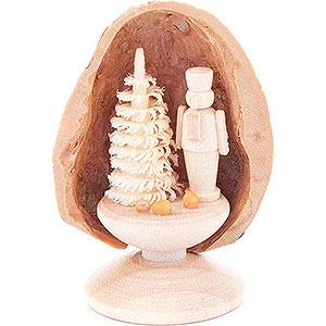 Kleine Figuren & Miniaturen Walnussschalen Walnussschale mit Nussknacker - 5 cm