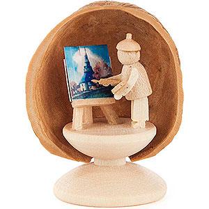 Small Figures & Ornaments Walnut Shells Walnut Shell Painter - 5 cm / 2 inch