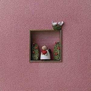 Weihnachtsengel Günter Reichel Dekoration Wandbild