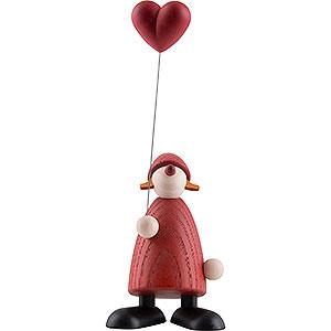 Kleine Figuren & Miniaturen Björn Köhler Weihnachtsfrauen kl. Weihnachtsfrau mit Herz - 9 cm