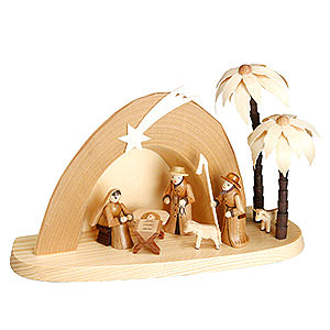 Kleine Figuren & Miniaturen Krippen Weihnachtskrippe - Grotte - 15 cm
