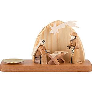 Lichterwelt Kerzenhalter Christi Geburt Weihnachtskrippe - Heilige Familie - 9 cm