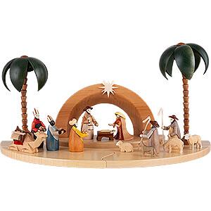 Krippenfiguren Alle Krippenfiguren Weihnachtskrippe mit lasierten Figuren