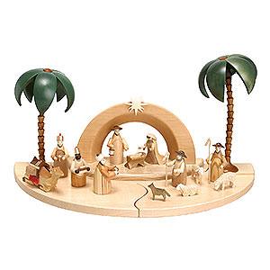 Kleine Figuren & Miniaturen Krippen Weihnachtskrippe mit naturfarbenen Figuren