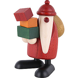Kleine Figuren & Miniaturen Björn Köhler Weihnachtsmänner kl. Weihnachtsmann Geschenke tragend - 9 cm