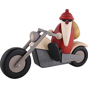 Kleine Figuren & Miniaturen Björn Köhler Weihnachtsmänner kl. Weihnachtsmann auf Motorrad - 11 cm