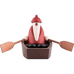 Kleine Figuren & Miniaturen Björn Köhler Weihnachtsmänner kl. Weihnachtsmann im Ruderboot - 9 cm
