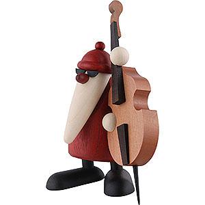 Kleine Figuren & Miniaturen Björn Köhler Weihnachtsmusiker Weihnachtsmann mit Kontrabass - 12 cm