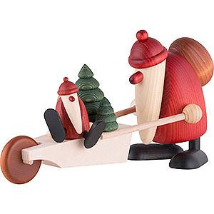 Kleine Figuren & Miniaturen Björn Köhler Weihnachtsmänner gr. Weihnachtsmann mit Schubkarre - 19 cm