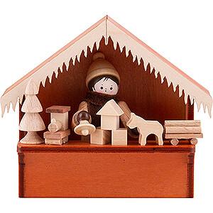 Kleine Figuren & Miniaturen Thiel-Figuren Weihnachtsmarktbude Spielwaren mit Thiel-Figur - 8 cm