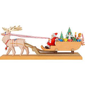 Kleine Figuren & Miniaturen Weihnachtsmann Weihnachtsschlitten - 10,5 cm