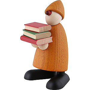 Small Figures & Ornaments Björn Köhler Well-wisher Well-Wisher Billy with Books, Yellow - 9 cm / 3.5 inch