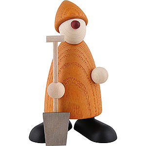 Gift Ideas Moving in Well-Wisher Hans with Spade, Yellow - 9 cm / 3.5 inch