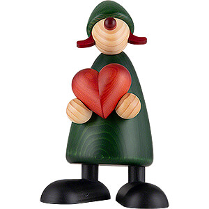 Small Figures & Ornaments Björn Köhler Well-wisher Well-Wisher Thea with Heart - 17 cm / 6.7 inch