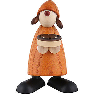 Small Figures & Ornaments Björn Köhler Well-wisher Well-Wisher Tina with Chocolate Cake, Yellow - 9 cm / 3.5 inch