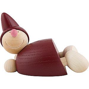 Kleine Figuren & Miniaturen Näumanns Wicht Wicht liegend - rot - 5,5 cm