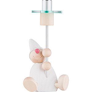Lichterwelt Kerzenhalter Sonstige Wicht mit Licht - weiß 14 cm