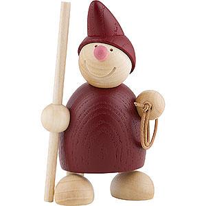 Kleine Figuren & Miniaturen Näumanns Wicht Wicht mit Stab und Lasso - rot 10 cm
