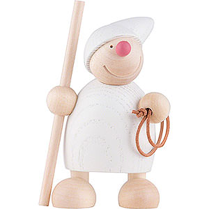 Small Figures & Ornaments Näumanns Wicht Wight with Crook and Lasso - White - 10 cm / 4 inch
