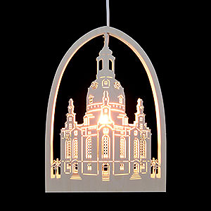 World of Light Window-Pictures Window Picture - Church of Our Lady, Dresden - 21,5x29,5 cm / 2 inch