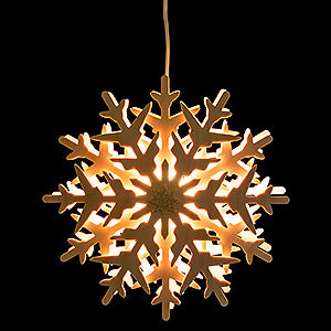 World of Light Window-Pictures Window Pictures Snow Crystal (1) - 29 cm / 11.4 inch