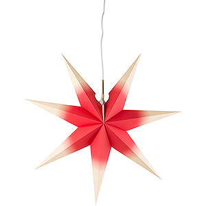 Advent Stars and Moravian Christmas Stars Annaberg Folded Stars Window Star - Red - Yellow - 41 cm / 16.1 inch