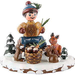 Small Figures & Ornaments Hubrig Winter Kids Winter Children Animals of the Forest - 7 cm / 3 inch