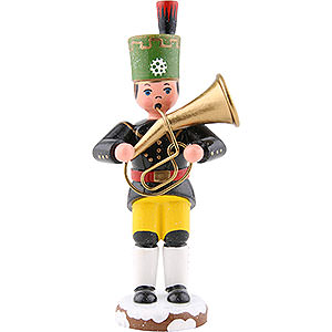 Small Figures & Ornaments Hubrig Winter Kids Winter Children Bergmann Tenor Horn- 9 cm / 3,5 inch