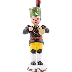 Small Figures & Ornaments Hubrig Winter Kids Winter Children Bergmann Trumpet - 9 cm / 3,5 inch