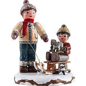 Small Figures & Ornaments Hubrig Winter Kids Winter Children Best Friends - 8 cm / 3.1 inch