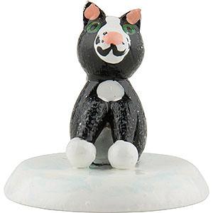Small Figures & Ornaments Hubrig Winter Kids Winter Children Black Cat - Set of Six - 2,5 cm / 1 inch