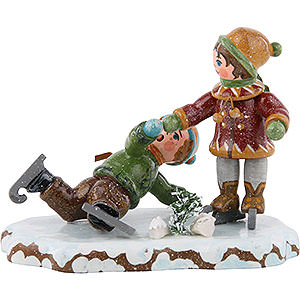 Small Figures & Ornaments Hubrig Winter Kids Winter Children Boy Skating - 7 cm / 3 inch