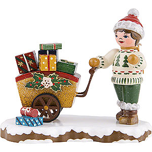 Small Figures & Ornaments Hubrig Winter Kids Winter Children Child with Gifts - 8 cm / 3 inch