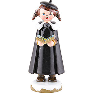 Small Figures & Ornaments Hubrig Winter Kids Winter Children Church Singers with Pigtail - 8 cm / 3 inch