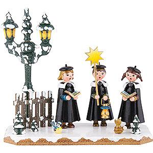 Small Figures & Ornaments Hubrig Winter Kids Winter Children Church Singing Group - 16x14 cm / 6x5,5 inch