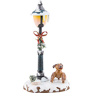 Small Figures & Ornaments Hubrig Winter Kids Winter Children Doggy under the Lamppost - 12 cm / 5 inch