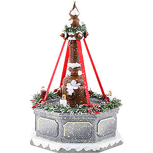 Small Figures & Ornaments Hubrig Winter Kids Winter Children Fountain with Electric Lights - 12 cm / 4.7 inch
