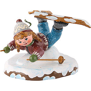 Small Figures & Ornaments Hubrig Winter Kids Winter Children Girl on Ski Belly Flopper - 7cm/3 inch