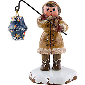 Small Figures & Ornaments Hubrig Winter Kids Winter Children Girl with Lantern - 8 cm / 3 inch