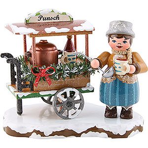 Small Figures & Ornaments Hubrig Winter Kids Winter Children Glogg Cart - 8 cm / 3.1 inch