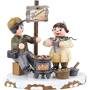 Small Figures & Ornaments Hubrig Winter Kids Winter Children Hot Chestnuts - 8 cm / 3 inch